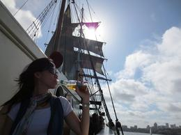 Photo of Australia Sydney Harbour Afternoon Tall Ship Discovery Cruise Shiny sea and cold beer