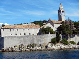 St. Mary's Church and the Franciscan monastery entering Lopud harbor , marycoons - October 2015