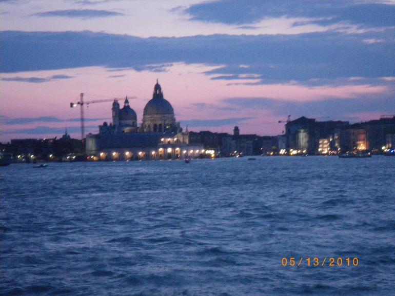 Sunset in Venise from our hotel - Venice