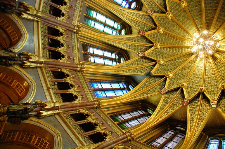 The dome in the Parliment House - Budapest
