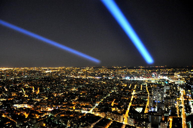 The summit of the Eiffel Tower - Paris