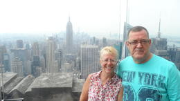 Me and my husband at the top of rockeffellas , CAROL L - September 2013