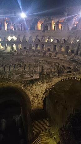 Photo of Rome Viator VIP: Exclusive Rome Rooftop Dinner and Colosseum Night Tour Including Underground Chambers A fantastic view inside the Colosseum.