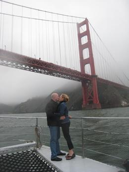 Photo of San Francisco San Francisco Bay Sunset Catamaran Cruise A kiss under the Golden Gate