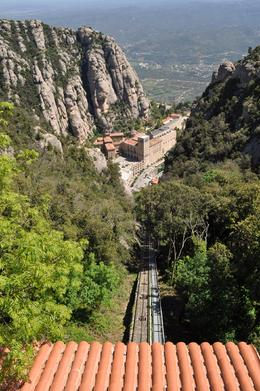 Photo of Barcelona Montserrat and Cava Trail Small Group Day Trip from Barcelona After the funicular ride