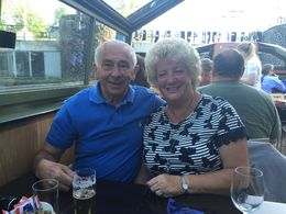 Barry and Sylvia Whitehead enjoying our Pizza Cruise , Sylvia W - June 2015