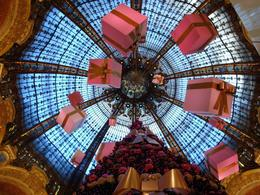 La Galerie Lefayette has a wonderful Christmas time display in the ground floor gallery. Presents hang seemingly suspended in air from the magnificent dome ceiling., Mary-Anne G - January 2010