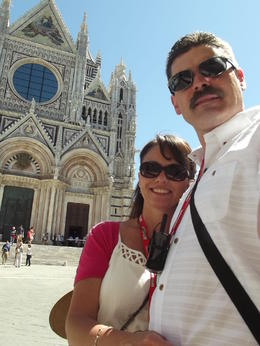 Photo of Florence Tuscany in One Day Sightseeing Tour In front of Siena's Duomo