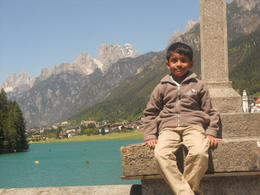 On our way to the dolomites we stopped at this dam and were overwheled by the scenery before us: Ansh as well! , MAGALUTCHEEMEE R - May 2012