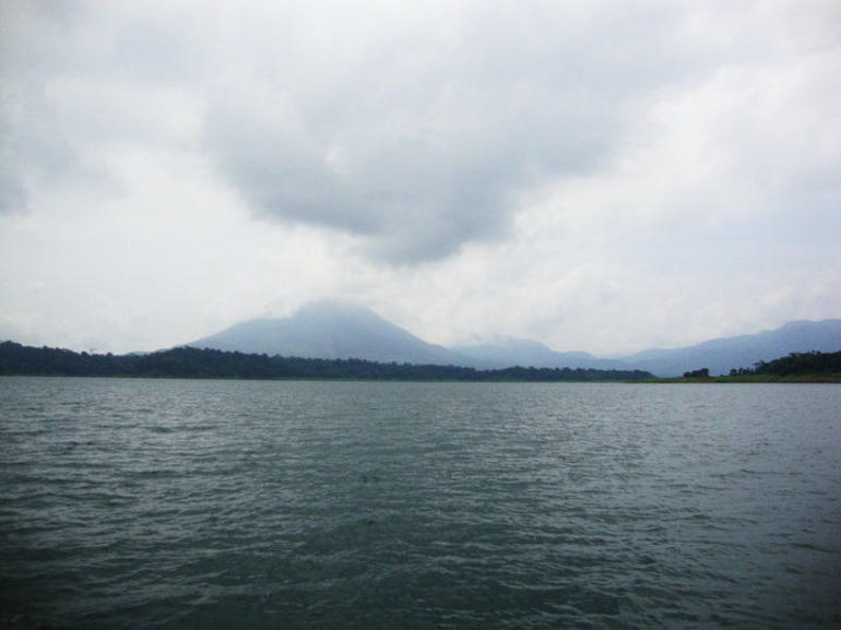 Lake Arenal With Volcano - Arenal Volcano National Park