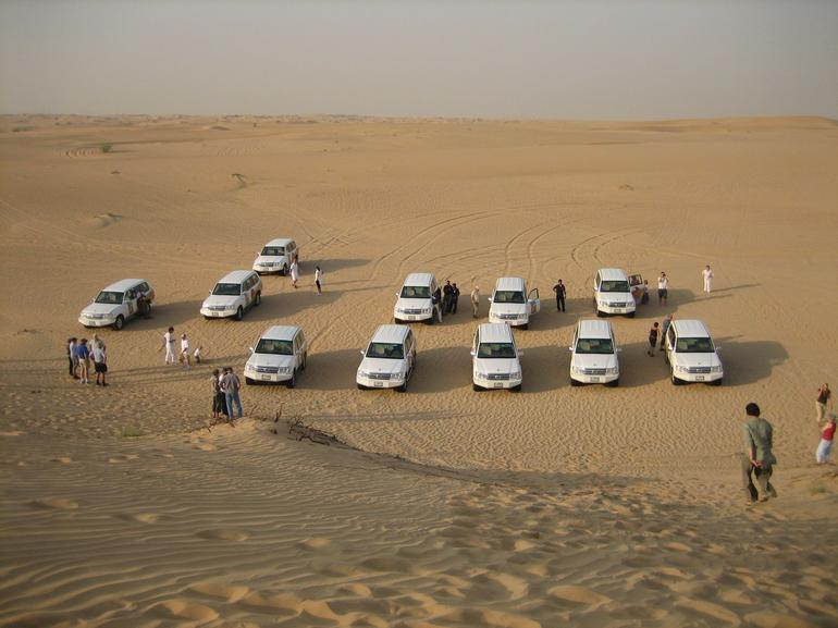Lining up in the dunes - Dubai