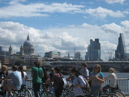 view of St. Paul's cathedral and other buildings from the south bank. , Kyra S - June 2014