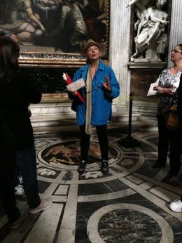 Our tour guide at Santa Maria del Popolo , Michael H - May 2013