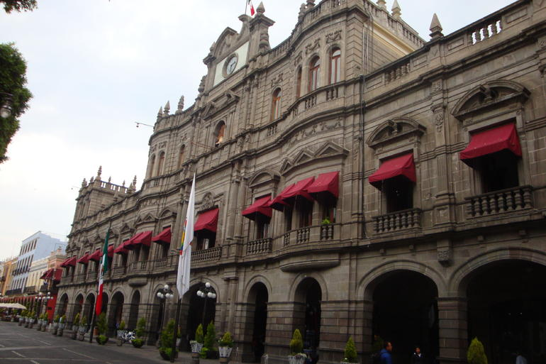Portal Hidalgo and Municipal Palace, in the historic centre. - Mexico City