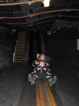 Slide in salt mine - March 2010