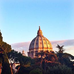 This is Saint Peter's Basilica at sunset , Laura L - June 2014