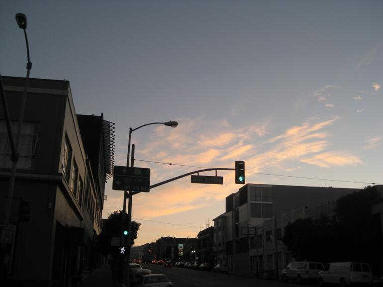 Street scape at sunset - San Francisco