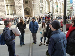 Here we are standing and listening to our guide Sandy. He had some great stories to tell. , Peter M - March 2012
