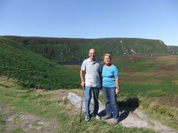 Mario and Anna during a scenic stop in Wicklow during the Wild Wicklow Tour from Dublin , Mario S - October 2013