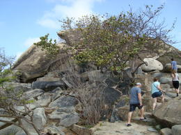Walking up Casibari Rock, Katiemo - August 2014