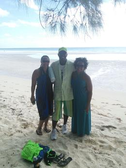 Myself and girlfriend with our Bahamian tour guide. , Benethia H - November 2013