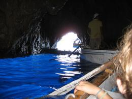 See how small the entrance is to the Blue Grotto., Mary T - September 2009