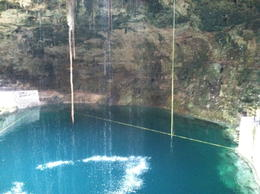 Take a dive into the cenote. The water was refreshingly cool. , jk87 - December 2011