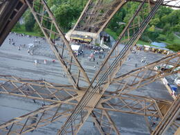 Photo of Paris Eiffel Tower, Paris Moulin Rouge Show and Seine River Cruise Looking through the tower