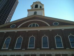 Photo of   Looking up at the top of Faneuil Hall