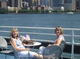 Laverne and Jan - Winnipeg, MB, Canada, enjoying a wonderful brunch and cruise along the Hudson River - wonderful day!, Darlene S - September 2008