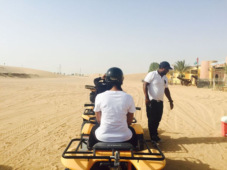 This is taken in the desert, before we started quad biking. So nice! Loved it