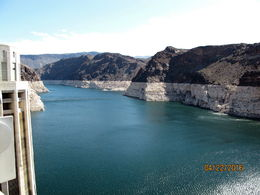 Like much of the West, the Colorado River Basin that feeds Lake Mead is in the 16th year of drought.The stark white bathtub ring of mineral deposits encircles Lake Mead, evidence of water levels..., Gloria Y - April 2016