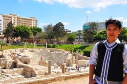 Gene at the Roman Amphitheatre, Alexandria, Genesis A - May 2010