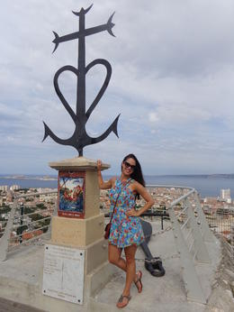 Panoramic view of Marseille and nearby islands from the city's iconic church on the hilltop. , Claudia A - July 2014