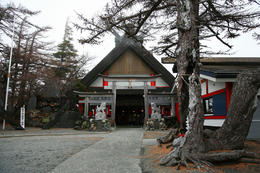 The farthest up by vehicle on Mt Fuji is 5th Station, this is a small shop there. , Curtis M - December 2010
