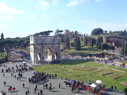 Photo of Rome Skip the Line: Ancient Rome and Colosseum Half-Day Walking Tour Arch of Constantine from the Colosseum