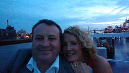 On the Duchess Yacht , My Husband and I selfie , Julie S - August 2014