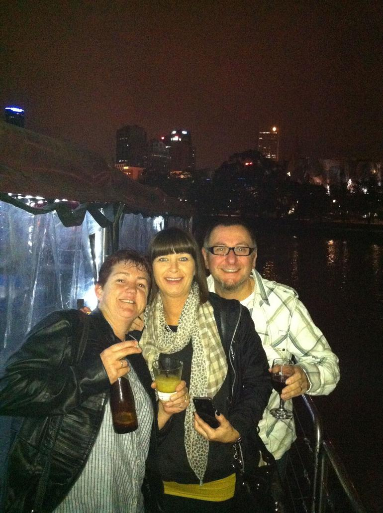 Enjoying a drink on the Spirit of Melbourne Dinner Cruise - Melbourne