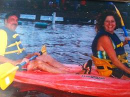 Us on the kayak tour, we had a blast!, Alesher - July 2012