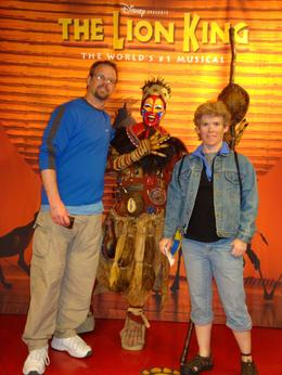 Us at the wax museum enterance, Sheryl L - March 2010