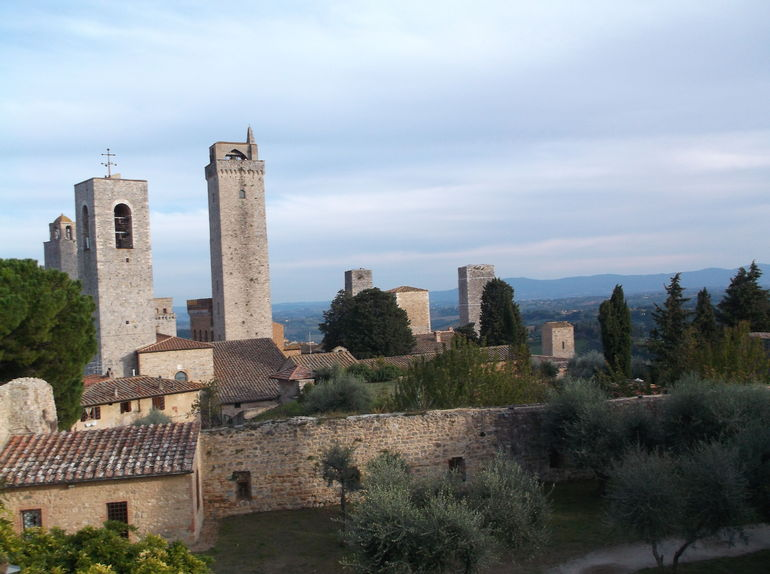 One of the towers in San Gimignano