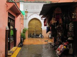 Great combination of a souk, stall and mosque in Marrakech's medina - February 2010