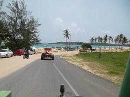 Photo of Punta Cana Punta Cana Half-Day Dune Buggy Adventure Topping the hill to the beach!