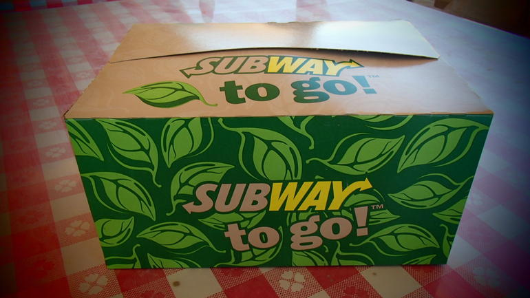 We had yummy Subway for lunch - Las Vegas