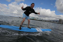 Photo of Oahu Oahu Surf Lessons: Class and Equipment at Ala Moana Beach with Round-Trip Transport Woo hoo!