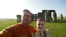My daughter and I at Stonehenge , Jeffrey S H - August 2014