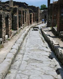 Photo of Rome Pompeii and Amalfi Coast Small Group Day Trip from Rome Chariot Ruts