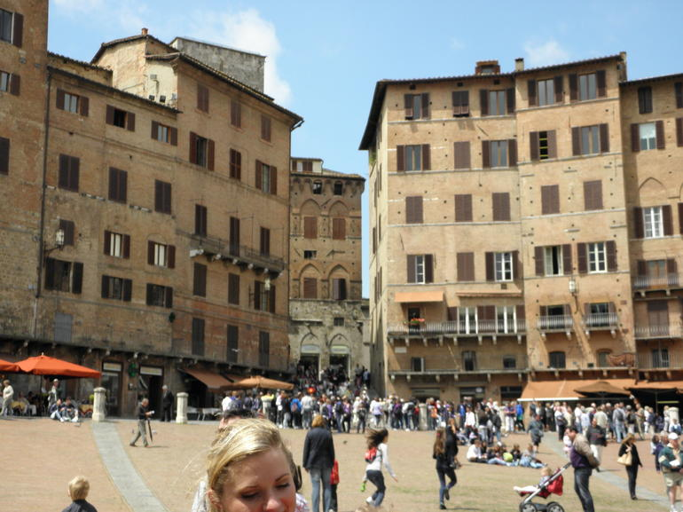 Main Piazza in Siena - Florence