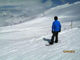Beautiful weather for skiing , Lin M - April 2012