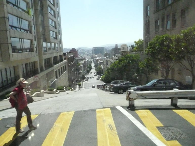 One of the many steep streets - San Francisco
